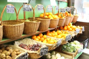 Beautiful fruits and vegetables - but don't touch!