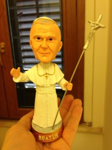 My Pope that my husband carried around all day.